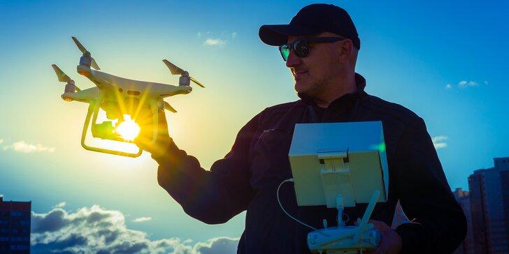 Naučte se létat a natáčet s dronem: intenzivní 6hod. teoretický kurz s profesionály