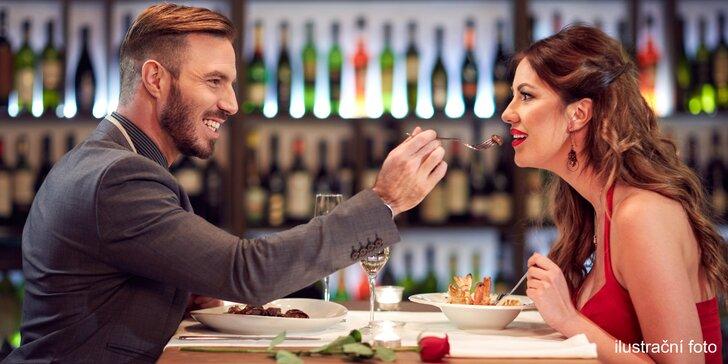 Romantická noc v jižních Čechách: 5chodové degustační menu a wellness