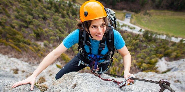 Jednodenní kurz Via Ferrata lezení pro začátečníky v Bechyni