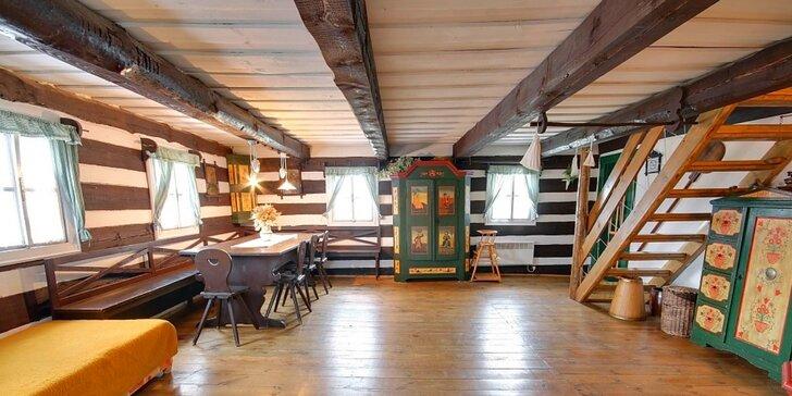 Čtyři pohodové dny ve stylové roubence v Orlických horách až pro 8 osob