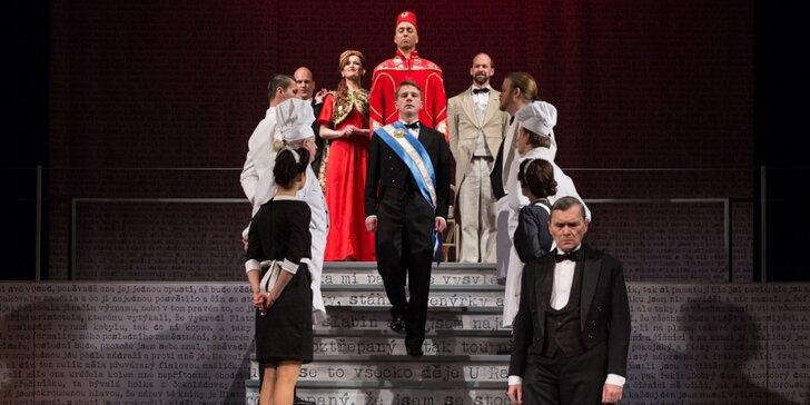 Vstupenka na divadelní představení Obsluhoval jsem anglického krále