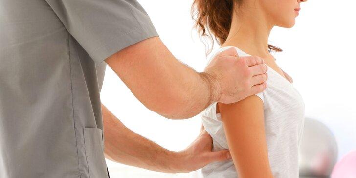 Terapie na sportovně-rehabilitačním přístroji a masáž nebo aroma koupel