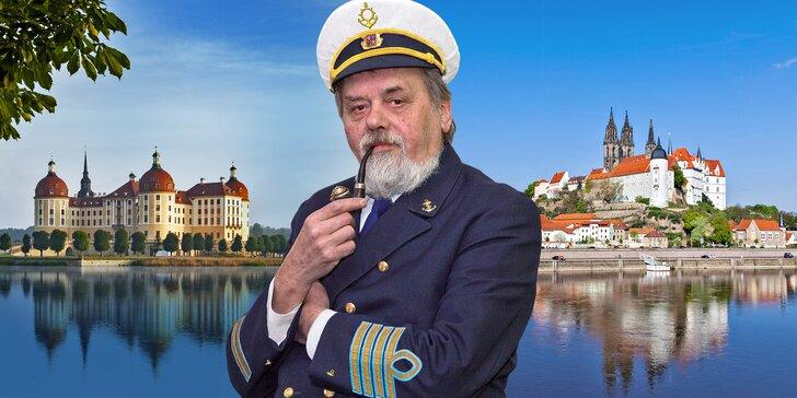 Plavba do Míšně, zastávka u Popelčina zámku Moritzburg a autobusem zpět