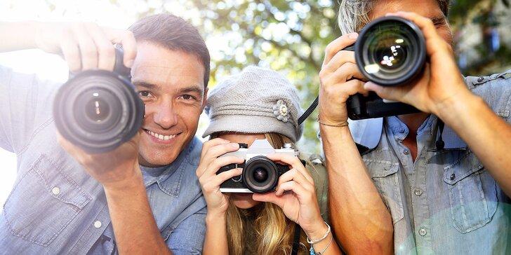 Tvořte dokonalé fotografie: skupinový či individuální fotokurz ovládání zrcadlovky