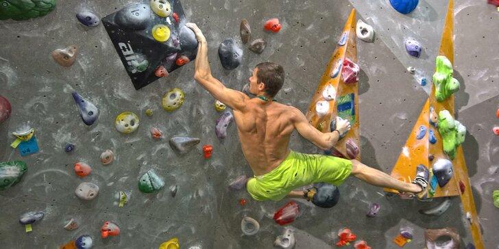 Individuální kurz lezení na umělé stěně pro začátečníky i pokročilé borce