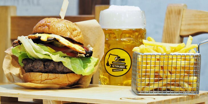 Přijďte se nadlábnout: 1, 2 nebo 4 napěchované burgery podle vašeho gusta