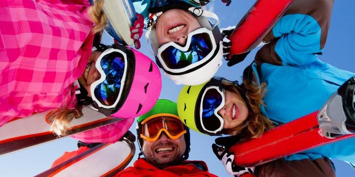 Hurá na sníh: permanentky pro děti i dospělé do skiareálu Pancíř