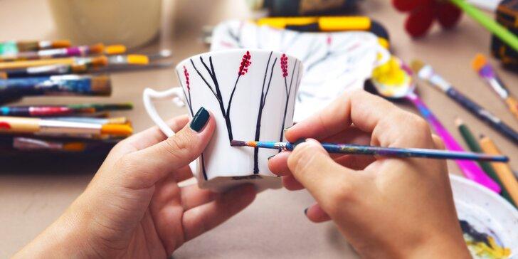 Hodinový workshop malování keramiky ve Vypáleném koťátku