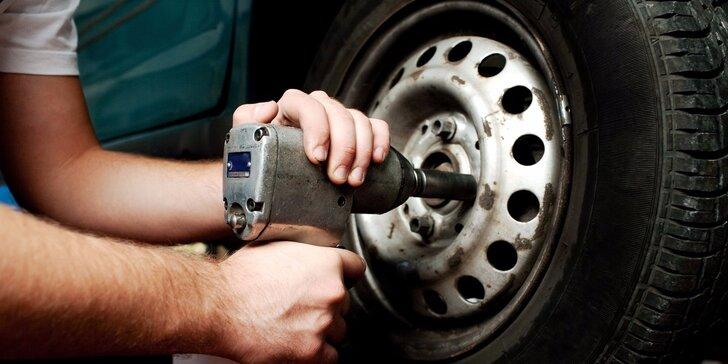 Kompletní přezutí pneumatik pro všechny typy vozů: včetně nahuštění