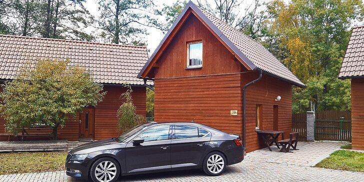Rodinné chaty v relax areálu kousek od Pradědu: ubytování až pro 11 osob