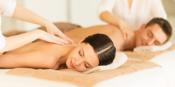 Luxus pro dva: partnerská masáž v salonu Elite se sklenkou sektu
