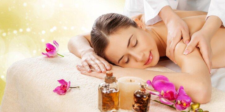 50minutová rozmazlovací masáž pro ženu svých snů vč. dárečku