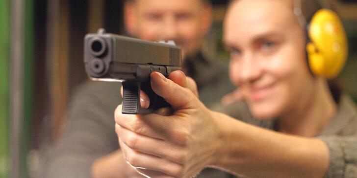 Až 5 zbraní a 78 nábojů: Střelba s instruktorem i bez zbrojního průkazu