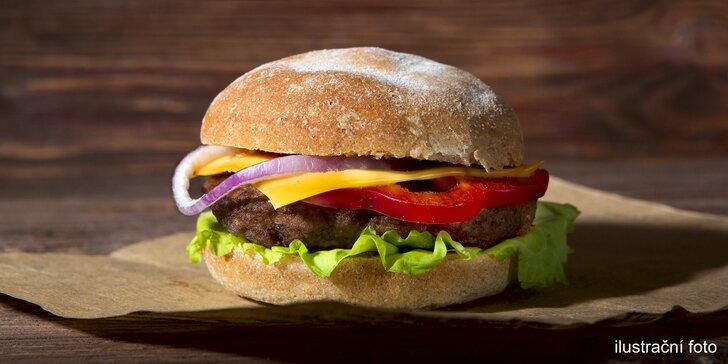 Vyberte si burger dle chuti a nechte si ho dovézt domů: vč. vegetariánské varianty