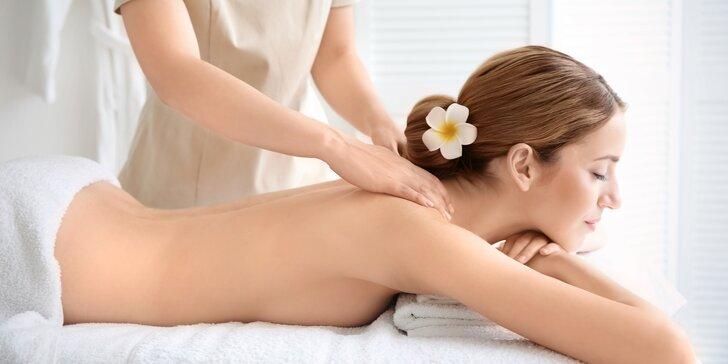 Hodinová masáž podle vašeho gusta: výběr ze 3 druhů