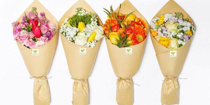 Každé pondělí čerstvá kytice: platí celý měsíc včetně rozvozu po Praze