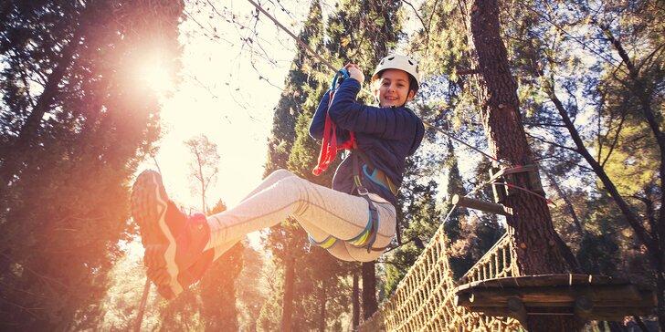 Vstupy do lanového Adventure Parku na Lipně pro dospělé i děti