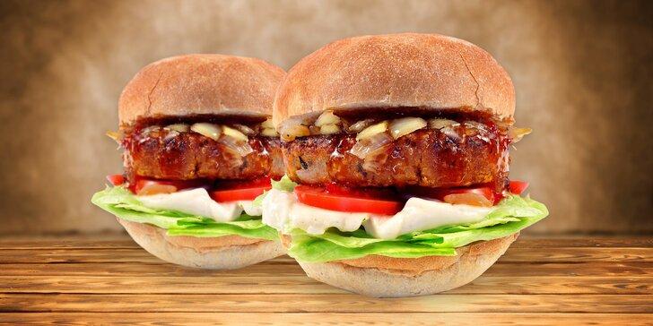 Bašta nejen pro vegany: 2 x vege burger i s rozvozem