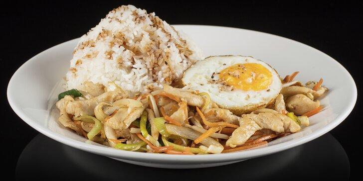 Asijské jídlo výběrem: Kuře teriyaki, curry s masem i bez či polévka ramen