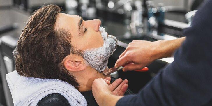 Profesionální péče o pány: střih se stylingem nebo holení břitvou