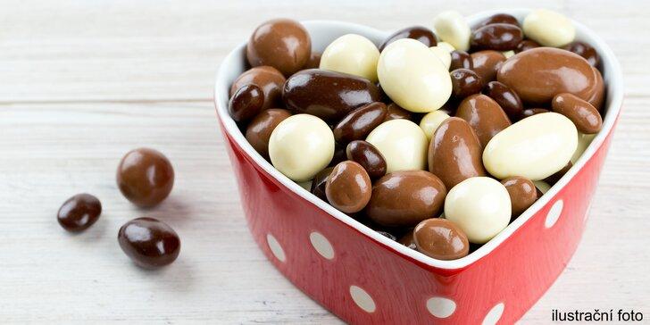 Sladký kornout: sušené ovoce, semínka či ořechy v čokoládě v hodnotě 100 Kč