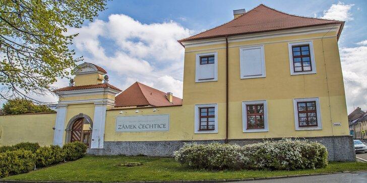 Víkend jako malovaný: pobyt na Zámku Čechtice s all inclusive jídlem i drinky
