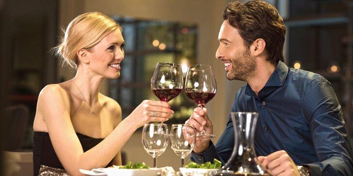 Láska prochází žaludkem: 3chodové menu a lahev vína pro dva