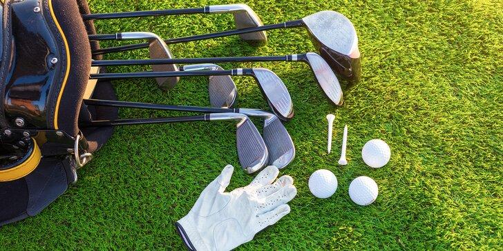 Vyzkoušejte golf: 2hodinová lekce s trenérem a hra na hřišti ve Slavkově