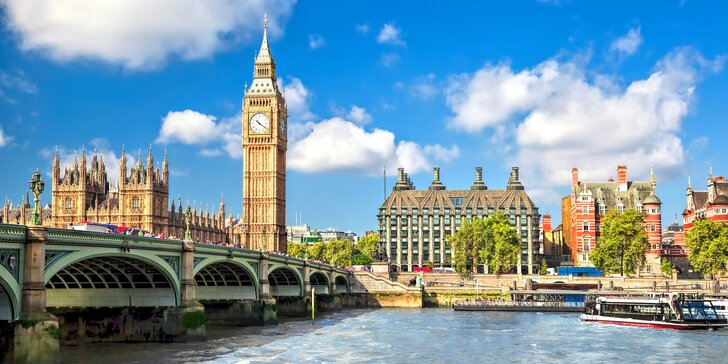 Zájezd do Londýna s ubytováním na 3 noci se snídaní a s průvodcem