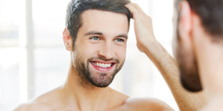 Pánský moderní střih se stylingem a masáží hlavy