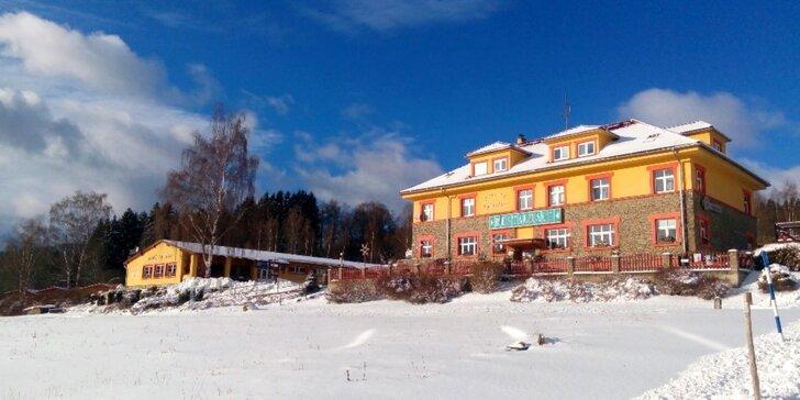 Aktivní zima na Lipně: Rodinná dovolená s polopenzí a lyžováním