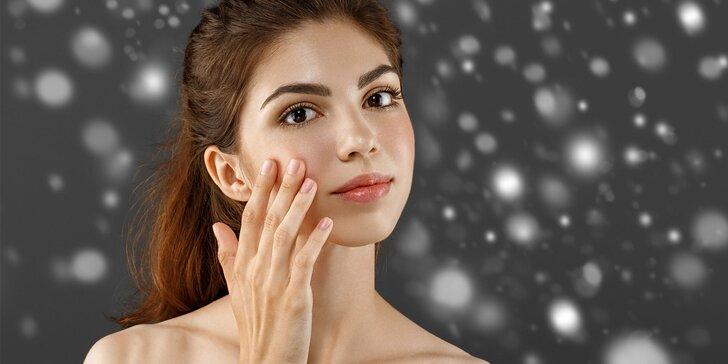 Kosmetické ošetření pleti kolagenem včetně masáže obličeje lávovými kameny