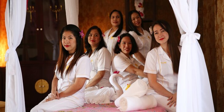 60minutová havajská masáž Lomi Lomi vč. prohřátí v lázni Hammam