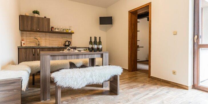 Apartmány se snídaní pro rodinu či partu: cyklovýlety, možnost degustace vín