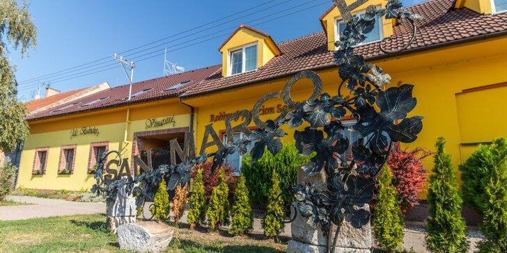 Odpočinek pro 2 na jižní Moravě: 3–4denní dovolená v penzionu se snídaněmi