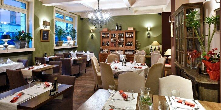 Otevřený voucher do krásné restaurace se středomořskou kuchyní