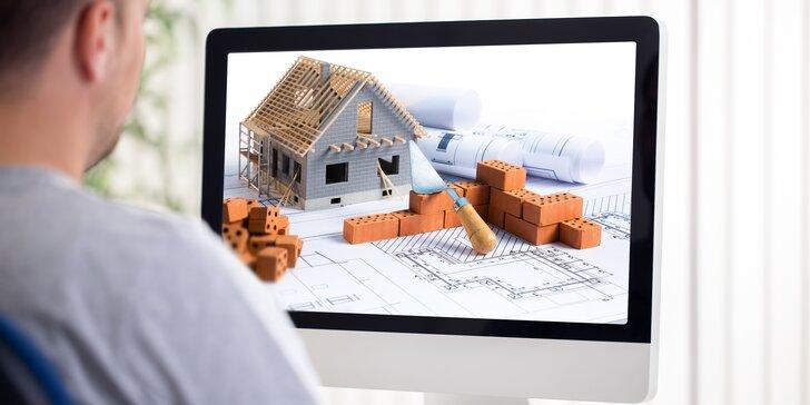 """Bydlete ve vlastním: Online kurz """"Stavíme dům aneb 6 kroků k vlastnímu bydlení"""""""