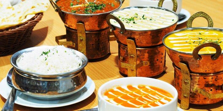 3chodové menu v nepálské restauraci včetně vegetariánských jídel