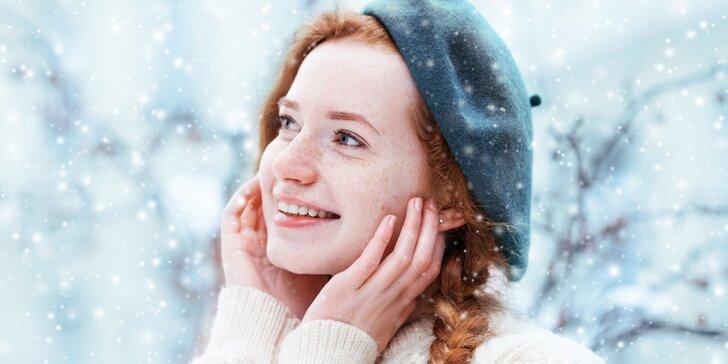 Relaxační zimní kosmetické ošetření pleti s masáží