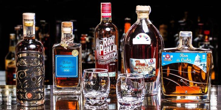 Degustace skvělých rumů ve VIP prostorech vyhlášené restaurace Havana pro 2
