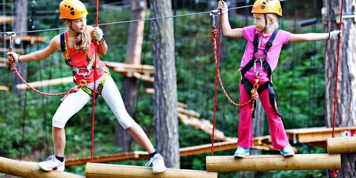 Odlepte se od země: vstupy do lanového centra Jungle Park pro děti i dospělé