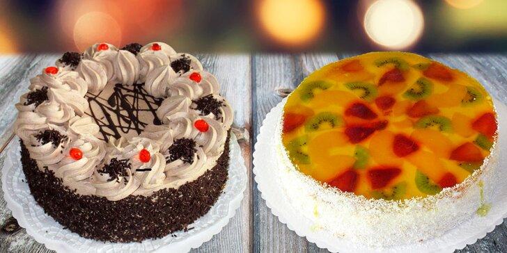 Ovocný, čokoládový nebo havana dort v cukrárně Pierot