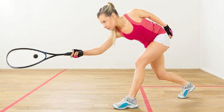 Parádní rozcvička pro unavené či ztuhlé tělo: Hodinový pronájem kurtu na squash