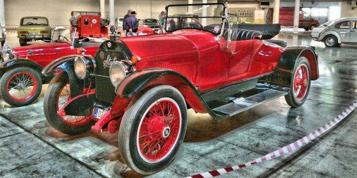 Vstup na tradiční veletrh historických vozidel MotorTechna pro malé i velké
