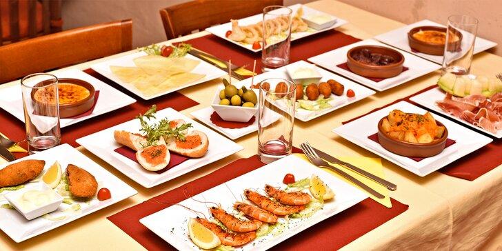 Propadněte vášni ke španělské kuchyni: degustační tapas menu pro 2 gurmány