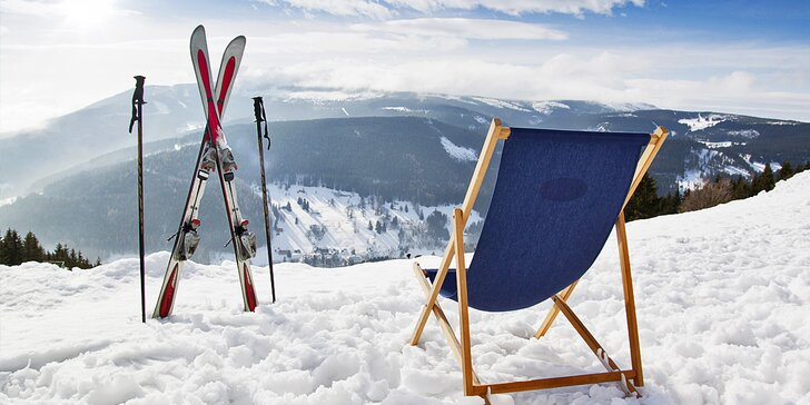 Zimní lyžovačka a pobyt v útulné krkonošské chatě pro dva i pro rodinu