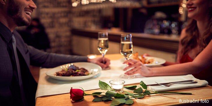 Valentýn na Moravě: pobyt vč. 6chodového degustačního menu a wellness