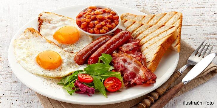Začněte den sytou snídaní na Malé Straně: anglická nebo FIT snídaně pro 1 či 2