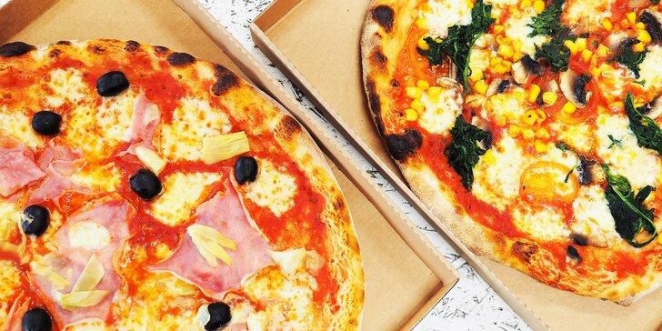 1 nebo 2 pizzy podle výběru ze 32 druhů: odnos s sebou