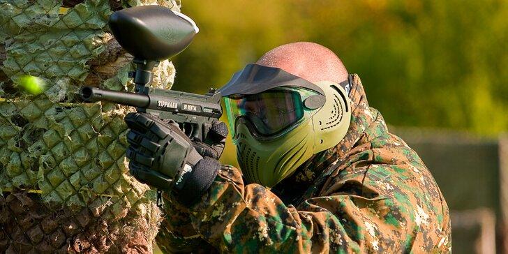 Pořádná dávka adrenalinu: paintballová střílečka v atomovém krytu nebo na hřišti